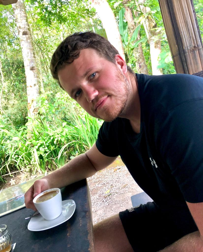Shaun Drinking Coffee