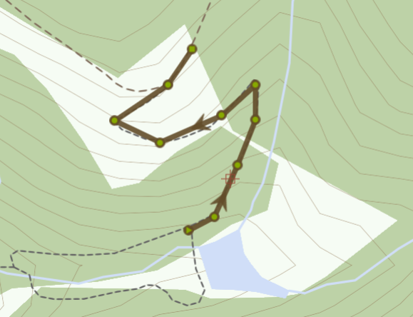 Map of Path to Second View point on Brombil Reservoir Mountain Walk