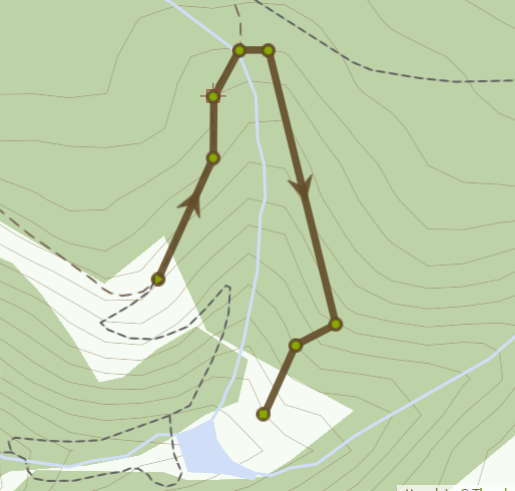 Map of Final viewpoint of Brombil Reservoir Mountain walk
