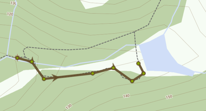 Map of Brombil Reservoir route