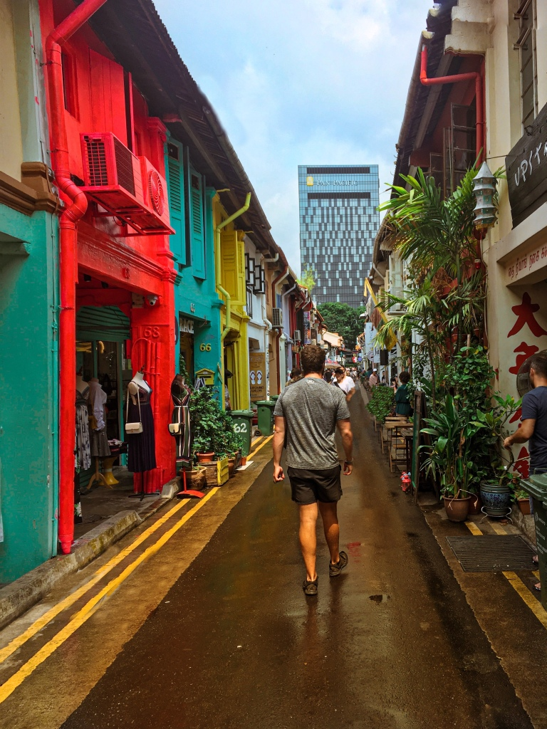 Two Days In Singapore - Shaun Walking down Haji Lane