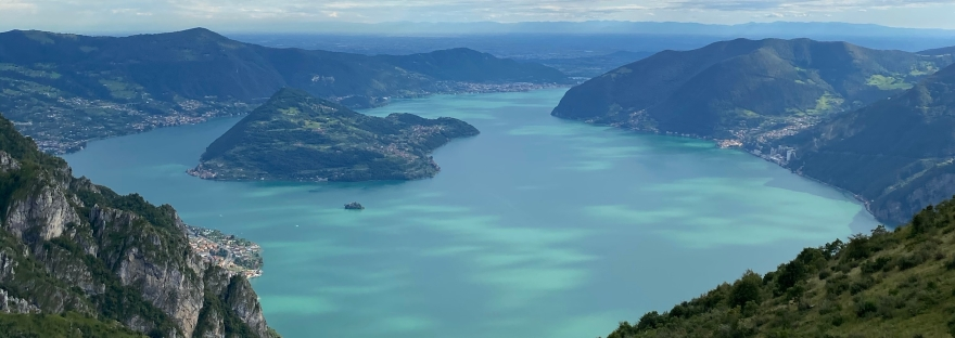 View From Lake Iseo Lombardy Italy (Lago De Iseo)