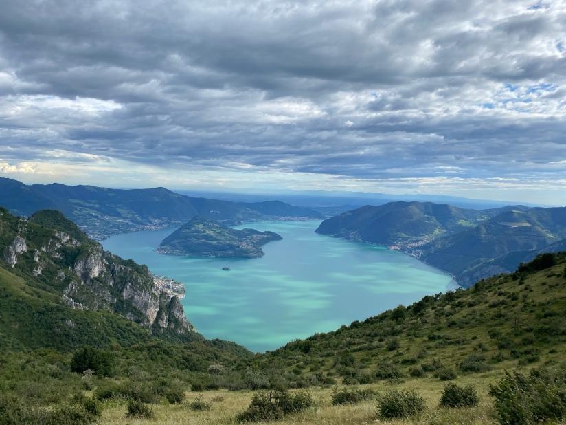 Lake Iseo Lombardy Italy/ Lago D'iseo/ Lago De Iseo - Corna Trentapassi Lake View